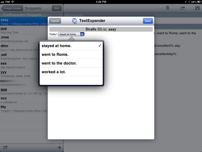 TextExpander Touch 2.0 Brings Fill-In Snippets, Formatted Text To iOS